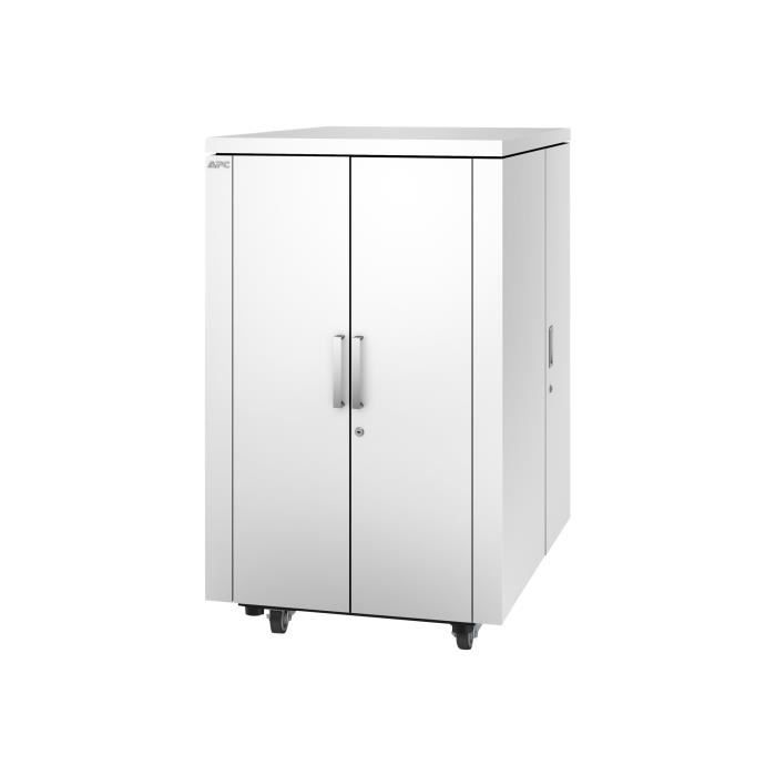 Apc Netshelter Cx Secure Soundproof Server Room in a Box Enclosure Shock Packaging Rack armoire avec unité de distribution...