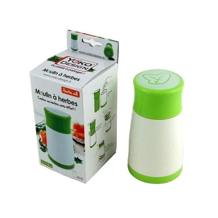 YOKO DESIGN Moulin à herbes fraiches blanc et vert