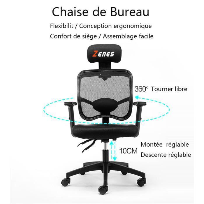 SIÈGE GAMING Chaise de bureaujeu fauteuil ordinateur gamer piv