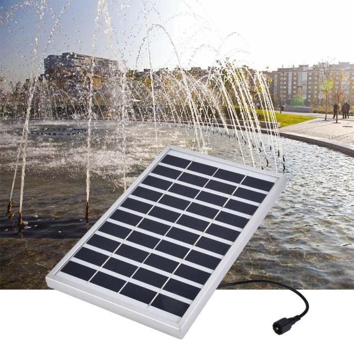 Pompe /à eau solaire 2W miniature sans pinceau Aquarium Fountain Pond Pompe /à eau solaire submersible pour /étang de jardin