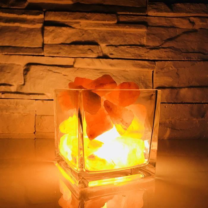 Naturel Pur 100/% de l/'Himalaya USB Sel Lampe Lumière Jaune