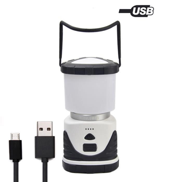 Lanterne Solaire à Led Rechargeable Secteur 220V /& à Piles USB Camping Rondo