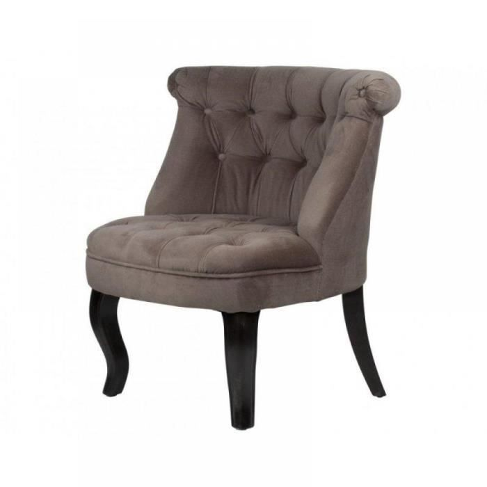 fauteuil capitonn versailles taupe achat vente. Black Bedroom Furniture Sets. Home Design Ideas