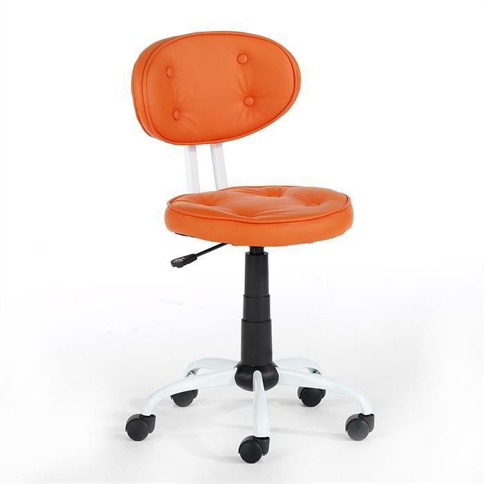 fauteuil de bureau pour enfant lenie orange achat vente chaise de bureau orange cdiscount. Black Bedroom Furniture Sets. Home Design Ideas