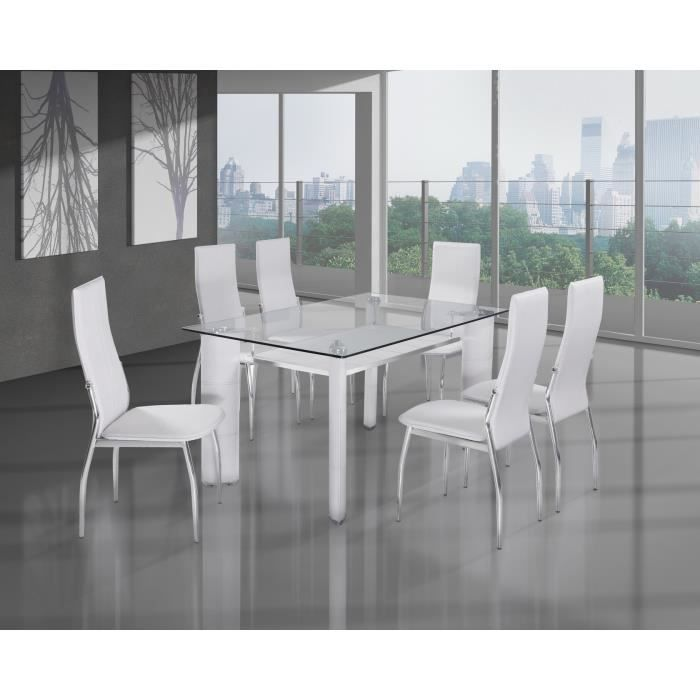 Table et chaise design en verre