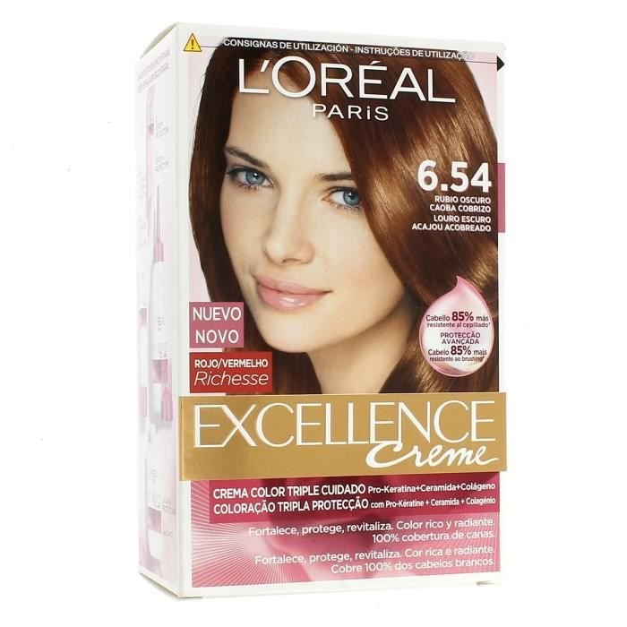 coloration loreal coloration excellence crme 654 cuivre - Coloration Excellence