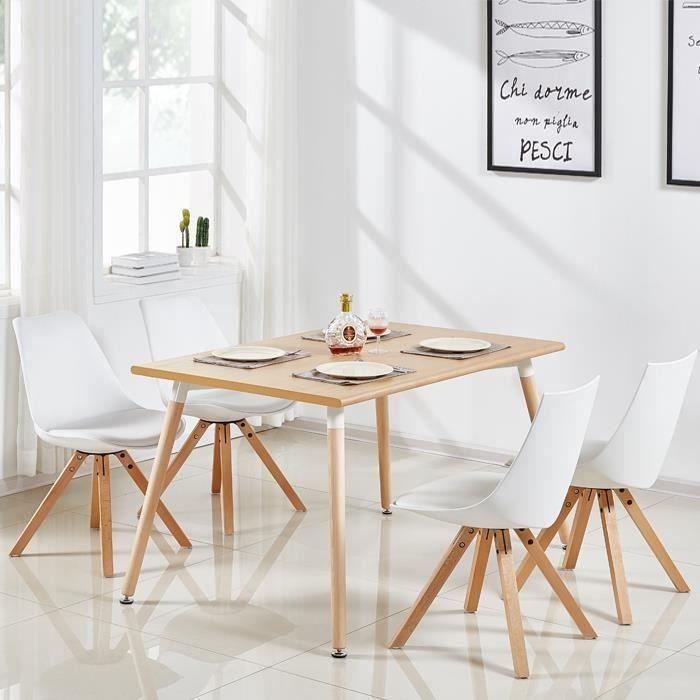 Designetsamaison Table A Manger Rectangulaire Scandinave Bois