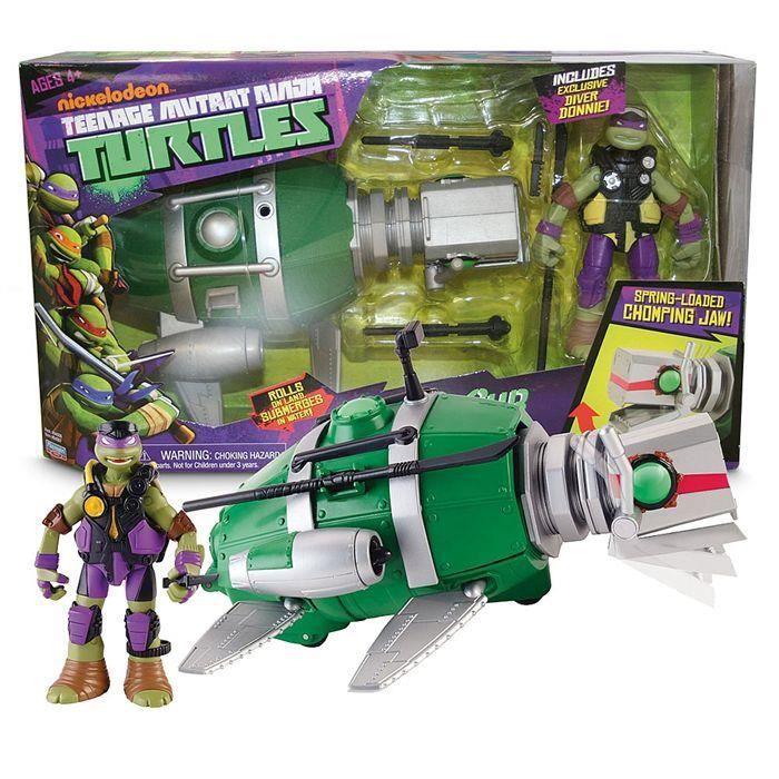 FIGURINE - PERSONNAGE Teenage Mutant Ninja Turtles sous-marin