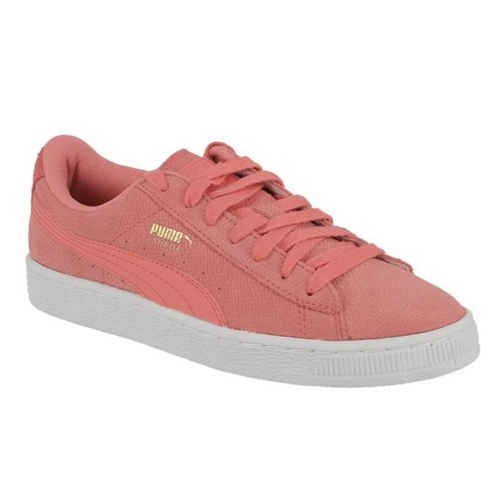 Basket Puma Suede remastered Embossed en daim rose.