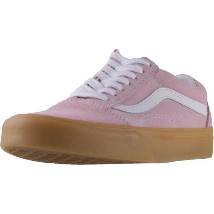 Vans Old Skool Double Light Gum Femmes Baskets Rose Blanc - 5 UK