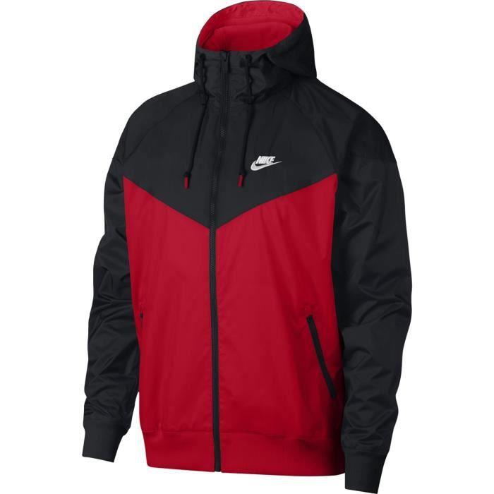 Veste Nike Sportswear Windrunner noir / rouge