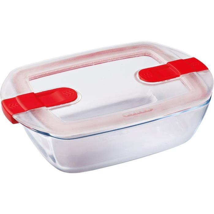 BOITES DE CONSERVATION PYREX - COOK&HEAT - Boîte rectangulaire en verre a