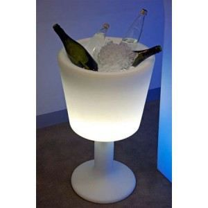 Seau champagne lumineux light drink slide achat - Seau a glace lumineux ...
