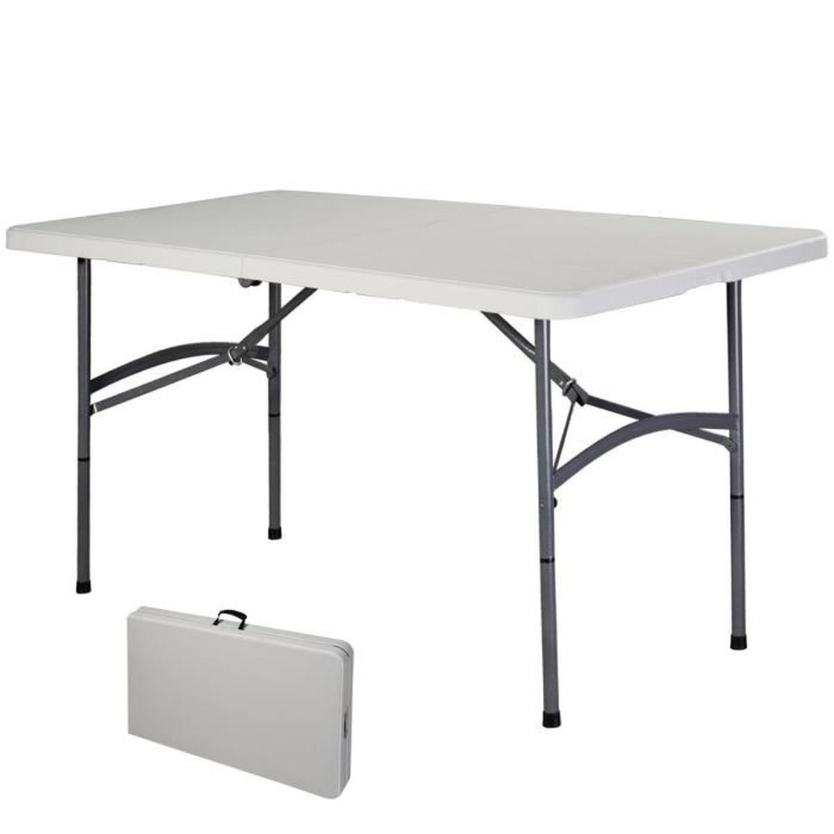 Table pliante portable table de camping valise jardin - Table de bridge pliante ...