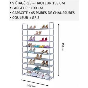 MEUBLE ÉTAGÈRE Meuble Chaussures,No51, Modulable 2 14 Étagères (1