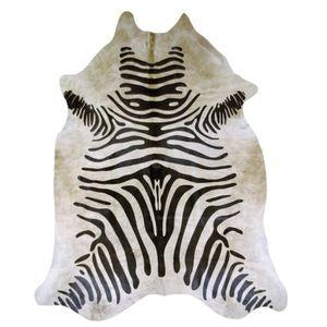 TAPIS Tapis en peau de vache, imprimé zèbre 190 cm x 185