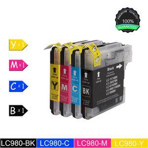 CARTOUCHE IMPRIMANTE LC-1100/LC-980 Printing de 4 (BKCMY) cartouches d'