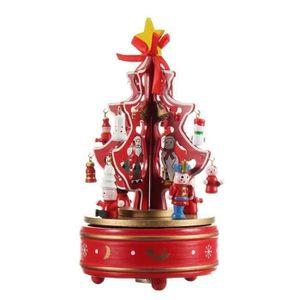BOITE À MUSIQUE Manège Boîte À Musique en Bois Forme Arbre de Noël