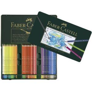 CRAYON DE COULEUR FABER-CASTELL Coffret de 60 Crayons de couleur aqu