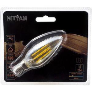 AMPOULE - LED Ampoules LED E14 flamme filament ambré - 4 W équiv