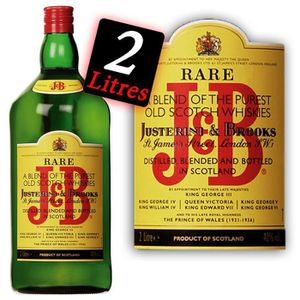 WHISKY BOURBON SCOTCH J & B  Magnum 2 litres