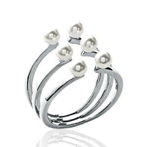 BAGUE - ANNEAU Bague trois anneaux ouverts femme - argent massif