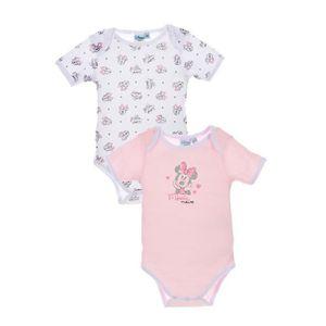 BODY MINNIE Lot de 2 bodies bébé coton argenté - Fille