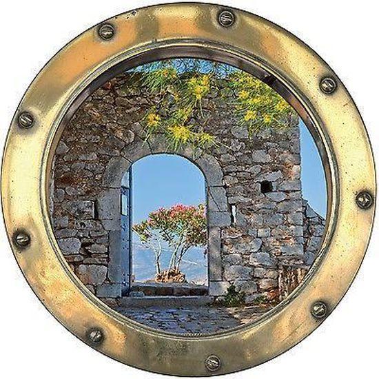 Sticker trompe l/'oeil belle vue 80x260cm réf 413