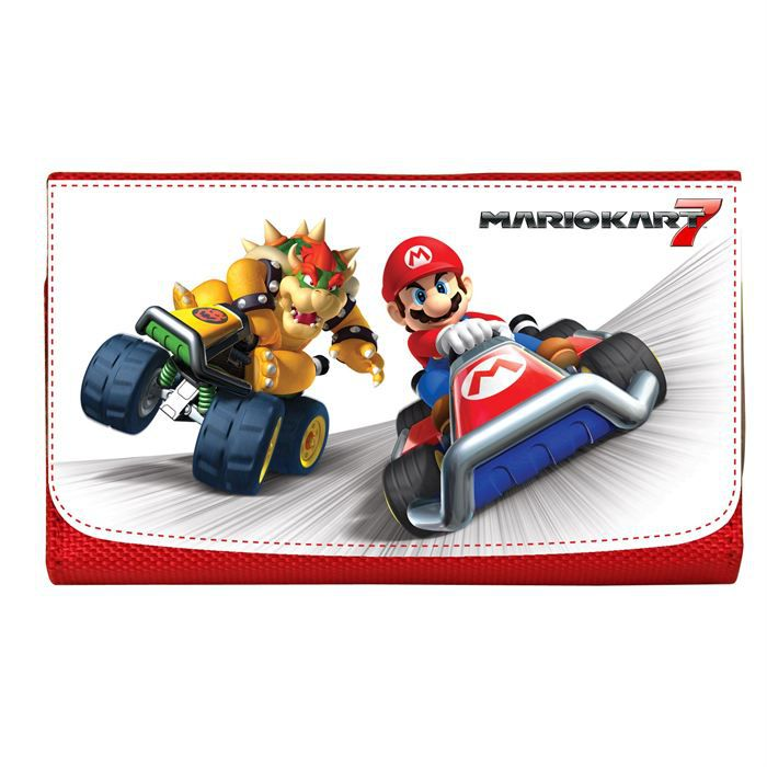 Pochette de transport mario kart rouge 3ds achat vente for Housse 2ds mario