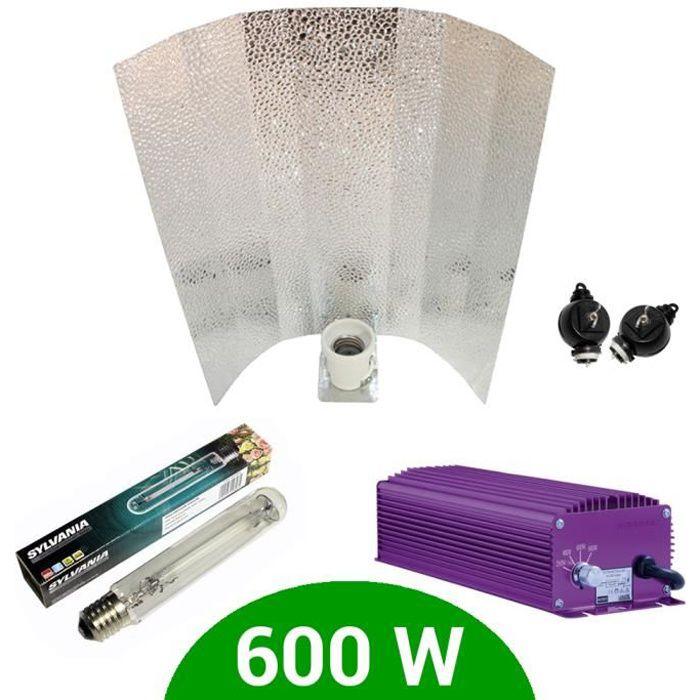 Kit eclairage électronique dimmable Lumatek 600W + Grolux HPS + Stucco