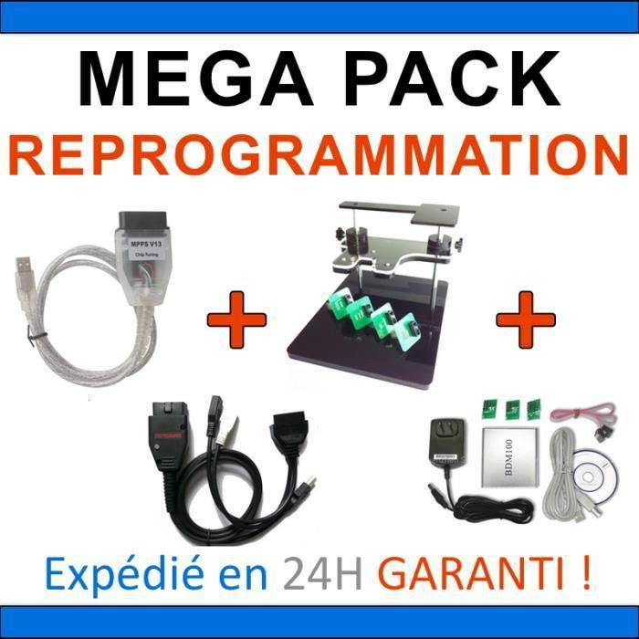 PACK REPROGRAMMATION CALCULATEUR - BDM FRAME - BDM 100 - MPPSV13 - GALLETTO 1260 - ELM 327 USB