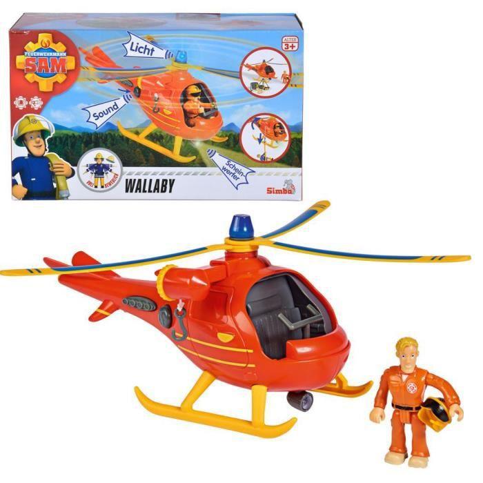 Jeu Wallaby Hélicoptère avec personnage mobile Tom et Accessoires -Dimensions du colis : 25,0 x 11,5 x 15,0 cm (Longueur x Largeur