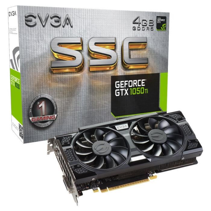 EVGA Carte Graphique GeForce GTX 1050 Ti SSC GAMING