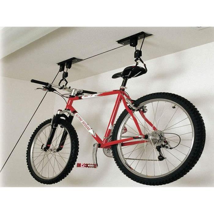 Vélo Bicyclette Plafond Rangement Rack Poulie Jusqu'À 30 KG Espace Saver Rangement Treuil
