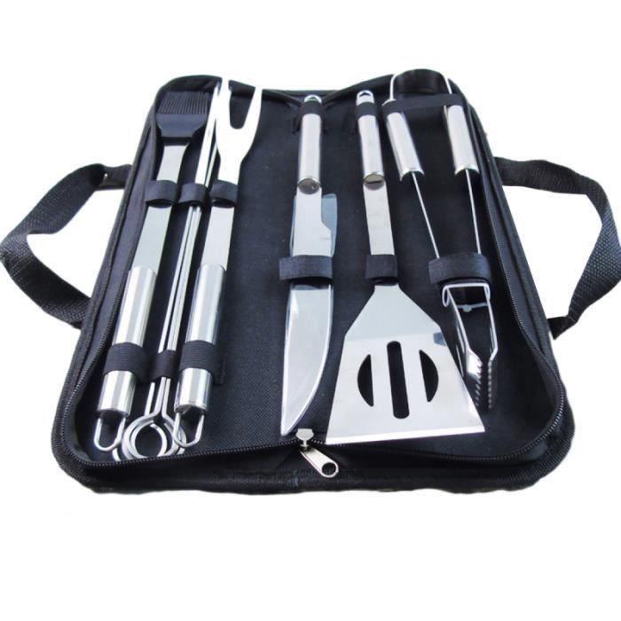 9 pièces ensemble d'ustensiles en acier inoxydable Kit de cuisine Barbecue Grill outils de barbecue USTENSILE BARBECUE PLANCHA