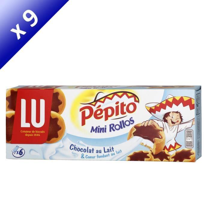 [LOT DE 9] LU PEPITO Mini rollos au chocolat au lait