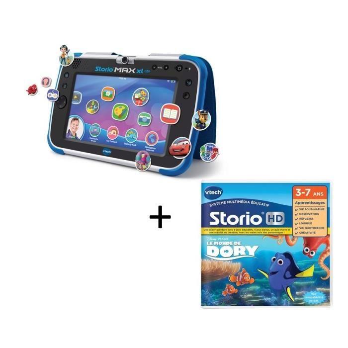 VTECH - Tablette STORIO MAX XL 2.0 bleue & Jeu Le monde de Dory