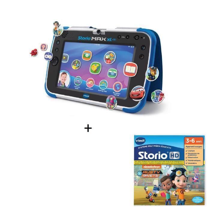 VTECH - Tablette STORIO MAX XL 2.0 bleue + Jeu HD Storio RUSTY RIVETS