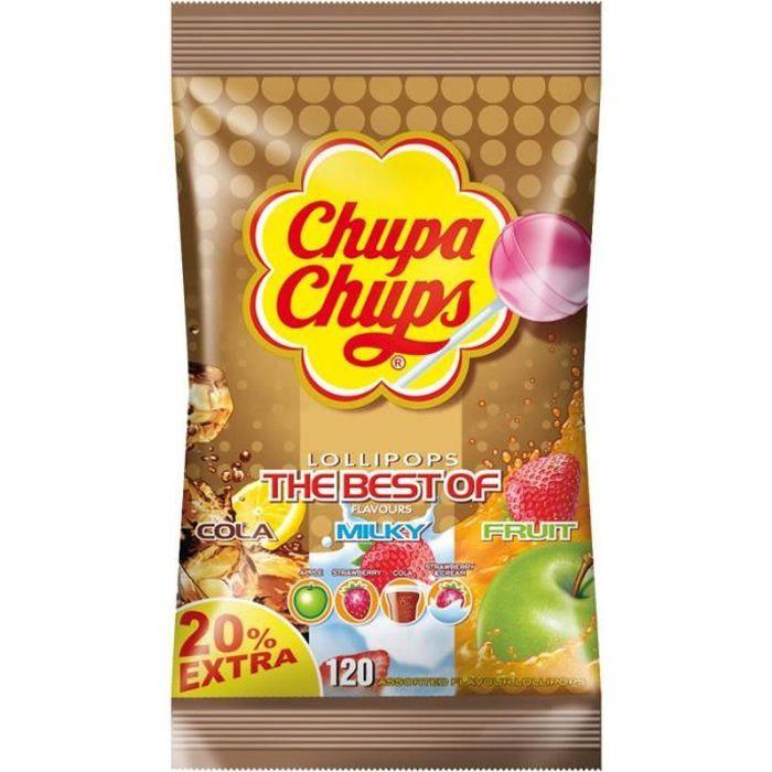 Le meilleur de sucettes Chupa Chups, 120 sucettes