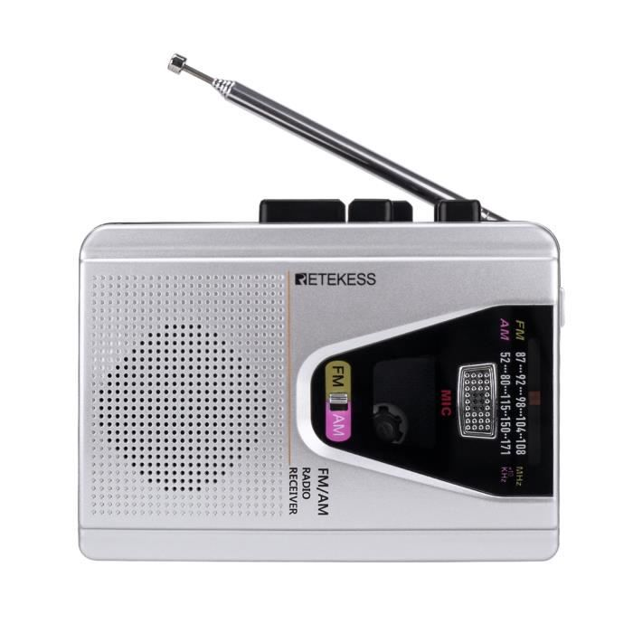 Retekess TR620 FM AM Radio portable lecteur de cassette enregistreurs magnétophone mode boucle de lecture de bande-128