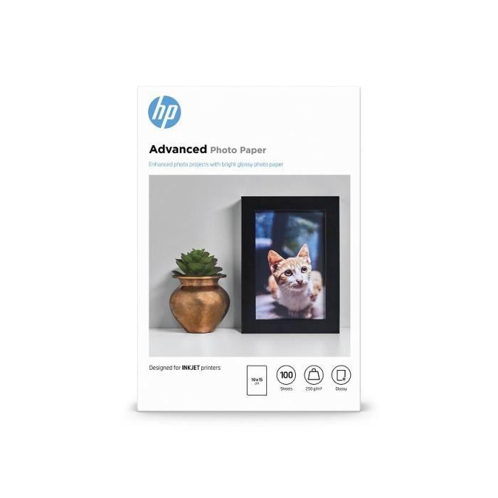 Papier brillant sans bordure HP Advanced - 100 feuilles/10 x 15 cm (Q8692A)