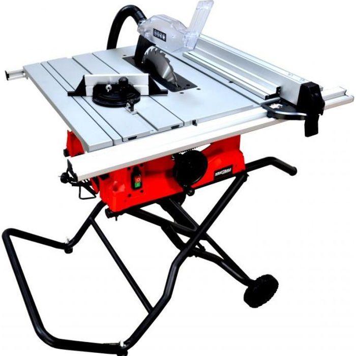 DCRAFT - Scie sur table - Puissance nominale 2800 W - Régime de ralenti 5000 min-1 - Scie coupe bois - Atelier bricolage