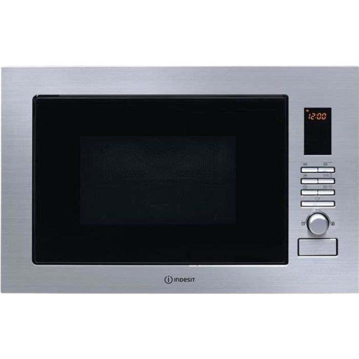 Indesit MWI 222.2 X Four micro-ondes combiné grill intégrable 25 litres 900 Watt inox