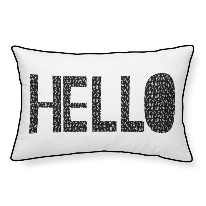 TODAY Coussin 100% coton Hello - 30x50 cm