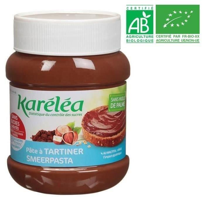 LÉA NATURE Karéléa pâte à tartiner noisette cacao Bio - 400g
