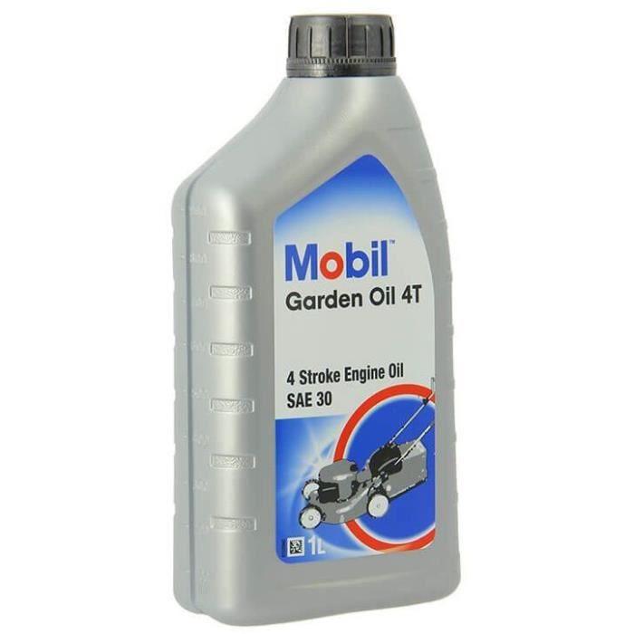 MOBIL Huile pour tondeuse à moteur essence M-GARDEN - 1 L