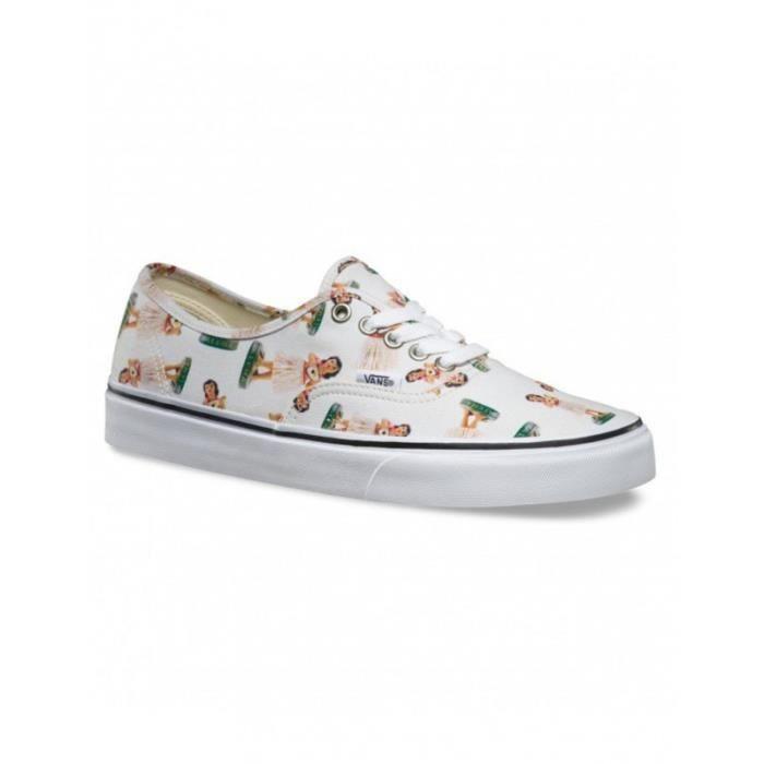 Chaussures Vans U Authentic - Digi Hula Classic White / True White