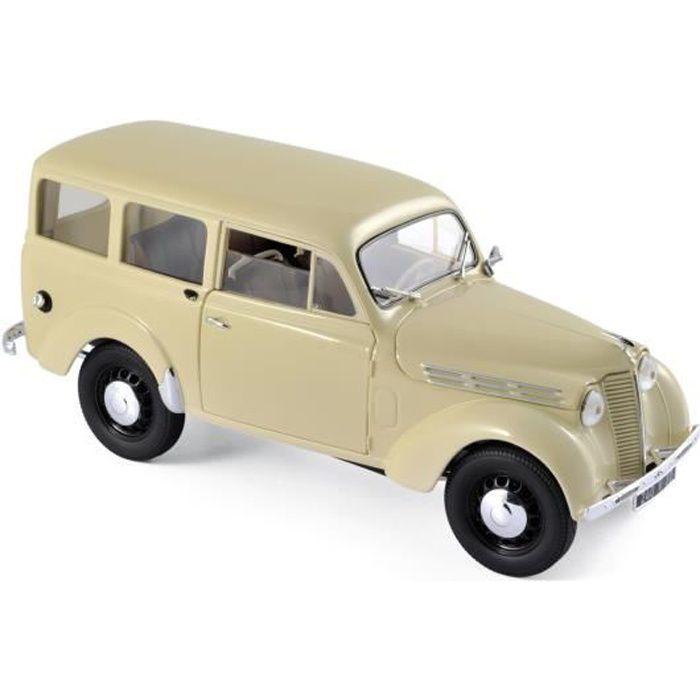 NOREV Auto modélisme Renault Break 300 kg Juvaquatre 1951 - Echelle 1:18 - Ivoire