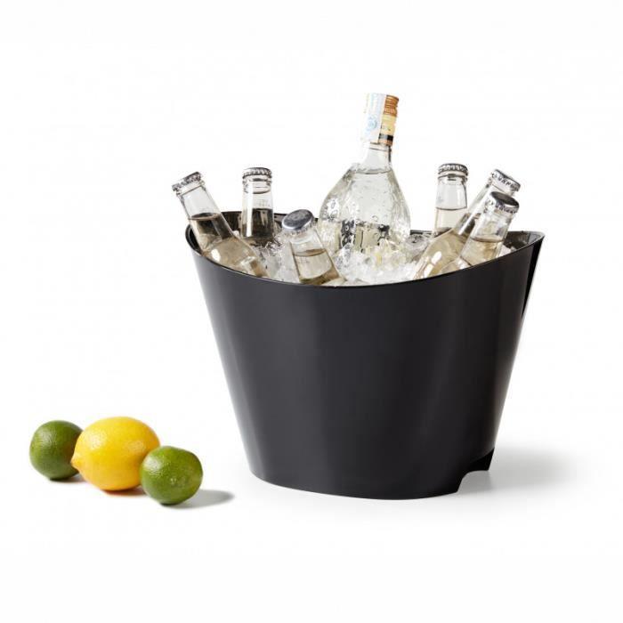 Seau à Champagne Ovale 32,5 x 23,5 cm - Pujadas - Noir - P988.600