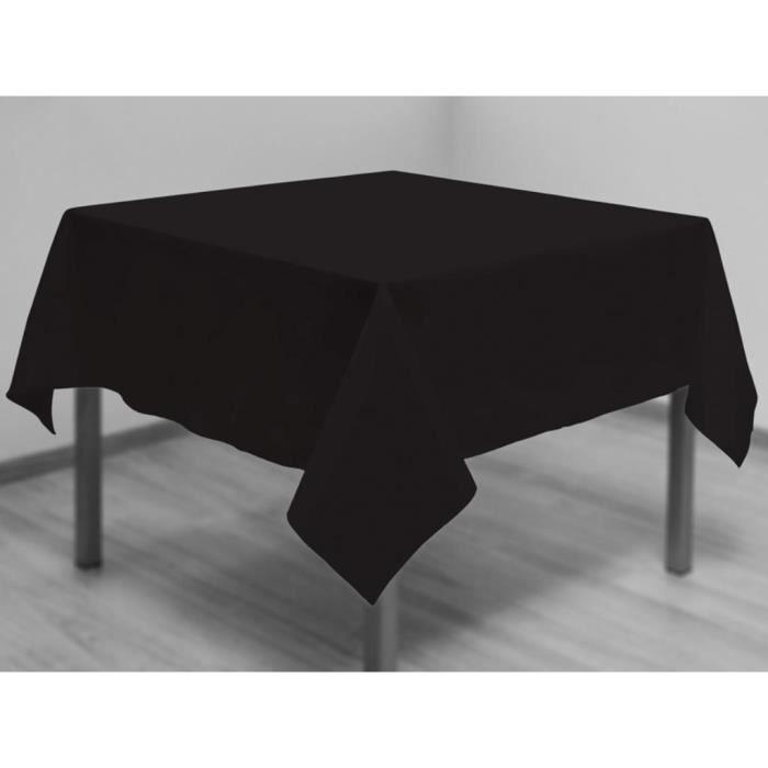 Nappe anti-tâches carrée 180x180 cm ALIX noir.